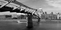 MILLENNIUM BRIDGE - sw by Städtecollagen Lehmann