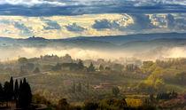 Novemberstimmung Montepulciano by Helmut Plamper