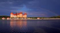 Moritzburg unter einem Regenbogen von Wolfgang Dufner