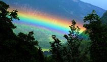 Regenbogen in den Dolomiten von Wolfgang Dufner