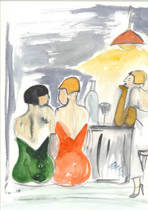 Frauen in der Bar by Annegret Hoffmann