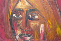 visage en rouge von Marion Gaber