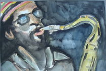 Saxophonspieler by Marion Gaber