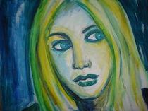 Schönheit ín blau grün gelb von Marion Gaber