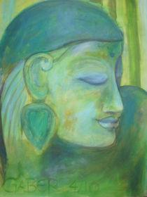 Buddha in grün by Marion Gaber
