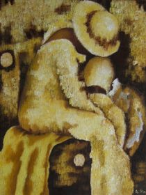 Ein maskierter Satyr gelobt Besserung by Achim Knorr