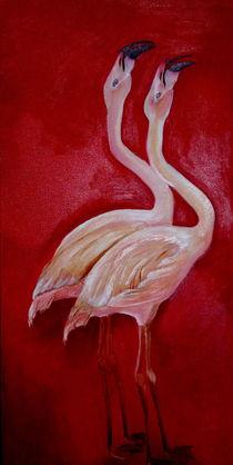 Flamingos by ERIKA FUSS