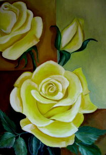 Gelbe Rosen von ERIKA FUSS
