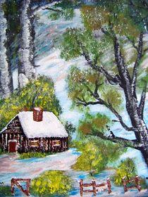 Hütte im Wald by Vera Markgraf