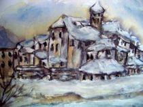 J Rossow  Alte Stadt im Winter von Vera Markgraf