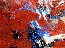 BLUE IDEA -  world with red birds 319 von Monika Nelting