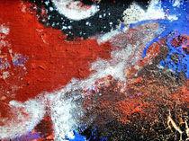 BLUE IDEA - world with red birds 315 by Monika Nelting