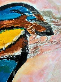 BLUE IDEA - world with birds 311 by Monika Nelting