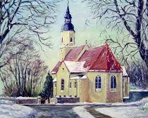 Glaubitzer Kirche  im Winter by Holger Hausmann