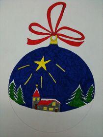 Weihnachtskugel by Heike Schuster