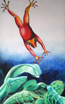 Frosch-Sprung by Ilona Metscher