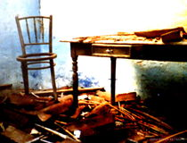 Tisch und Stuhl La Gomera von Helmi Böttrich