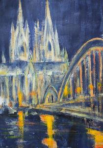 Köln bei Nacht von Erwin Maier