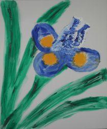 Lila Blüte von Christa Schicker