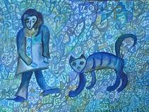 Katze und Wanderer von Elena Beresnjak
