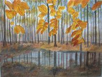 Kleiner See im Herbstwald by Kurt Luebbert