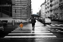 Regen im Zürcher Bankenviertel von sonjazett