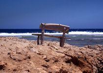 Die alte Bank und das Meer by Thomas Bader
