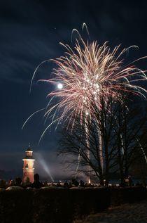 Feuerwerk am Leuchtturm von photopanther