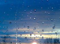 Tropfen H2O  - Sonnenuntergang by wachsma