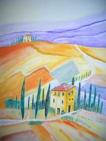 Landschaft in der Toskana von Ulrich Hohle