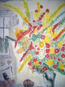 Blumen am Fenster von Ulrich Hohle