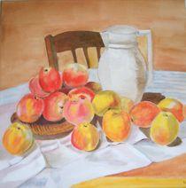 Äpfel auf Tisch von Ulrich Hohle