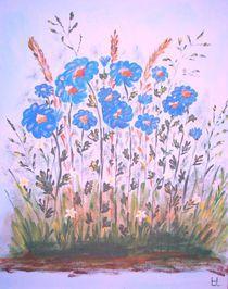 Blaue Blumen von Ulrich Hohle