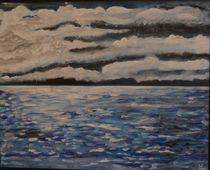 Gewitter über dem Meer von Ulrich Hohle