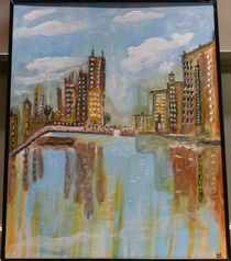 Hochhäuser am Wasser von Ulrich Hohle