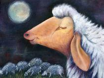 Träumendes Schaf bei Nacht von Annette Kretzschmar