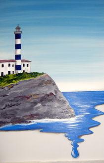 Leuchtturm von Porto Colom von Helga Krieger