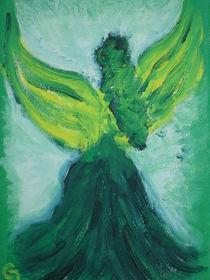 Grüner Engel von Hinten gesehen von Christine Jakob