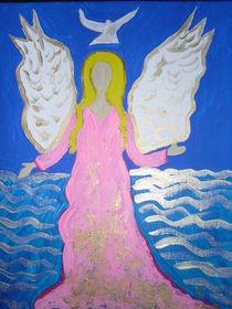 Engel mit Taube by Christine Jakob