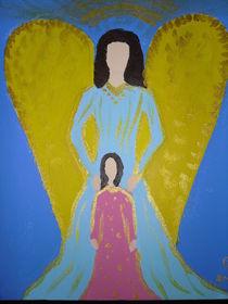 Engel mit Kind von Christine Jakob