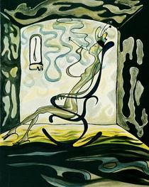 Mulattin im kobaltblauen Schaukelstuhl von Markus Johne