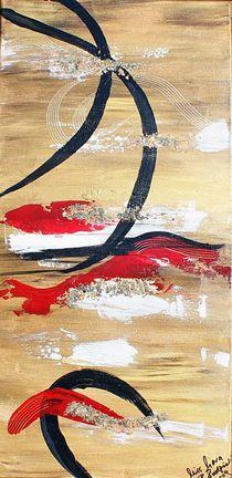 Finanzkrise - Abstrakte Malerei in Acryl von Roswitha Rudzinski
