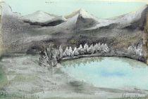 Bergsee im Winter  von Roswitha Rudzinski