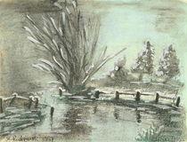 Winter am Fluss von Roswitha Rudzinski