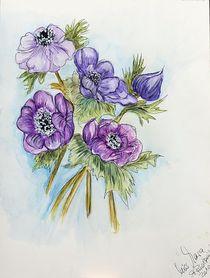 Aquarellbild Blumen  von Roswitha Rudzinski