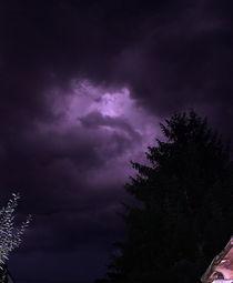 Gewitterwolken in der Nacht von Roswitha Rudzinski