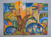 Tiere im Wald im Stil von Franz Marc von Heike Nedo