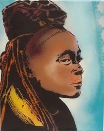 Portrait einer Himba von Franziska Schmidt