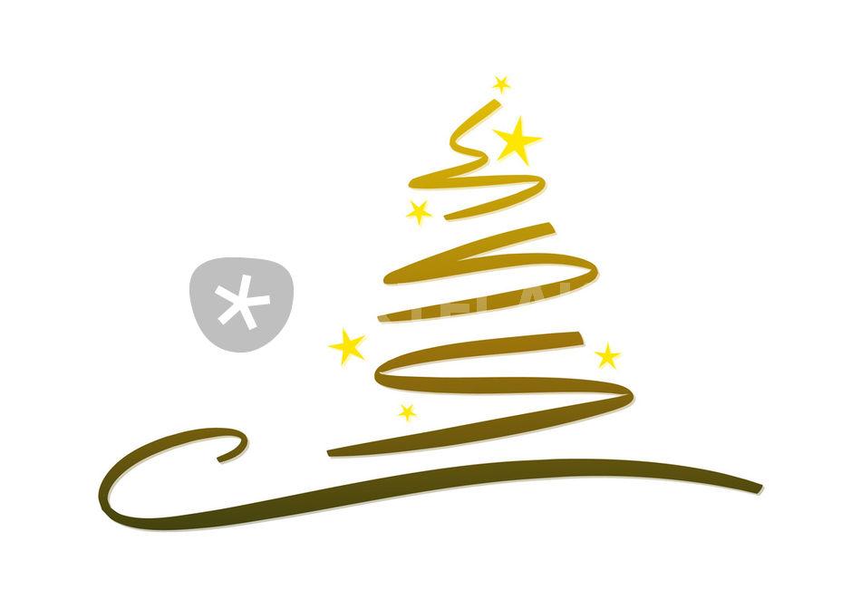 Abstrakter weihnachtsbaum gold grafik illustration als poster und kunstdruck von michaela - Grafik weihnachten kostenlos ...