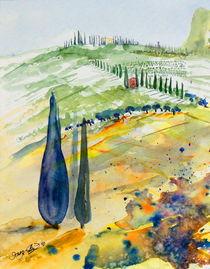 Landschaft am Gardasee von Inez Eckenbach-Henning